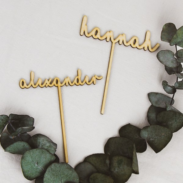 Cake Topper - Wunschname 4