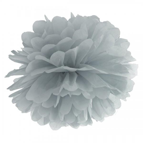 Pompon in Grau