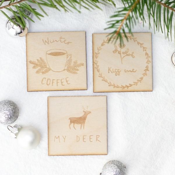 Magnete | Weihnachten | Winter 3 Stk. mit verschiedenen Motiven