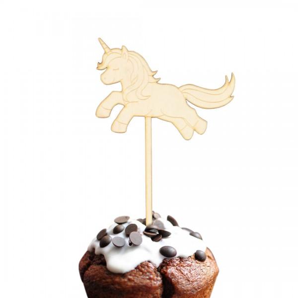 Cake Topper Einhorn springend auf Muffin