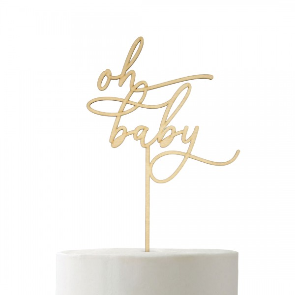 Cake Topper - Babyparty - oh baby