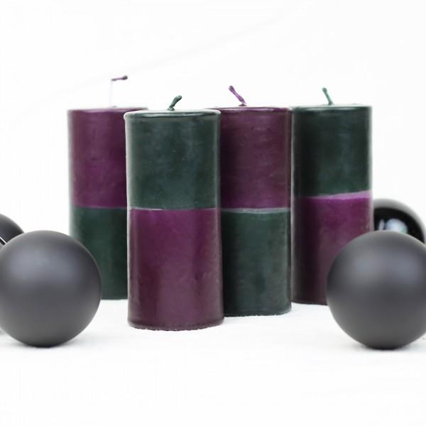 """Dip Dye """"Cozy Time"""" Kerzen zwischen Weihnachtskugeln"""