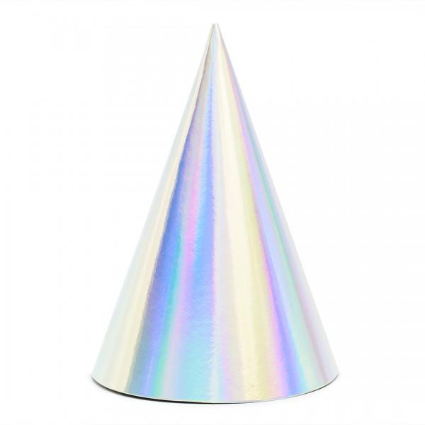 Silber schillernder Partyhut