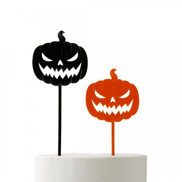 Cake Topper Pumpkin auf Fondant-Torte