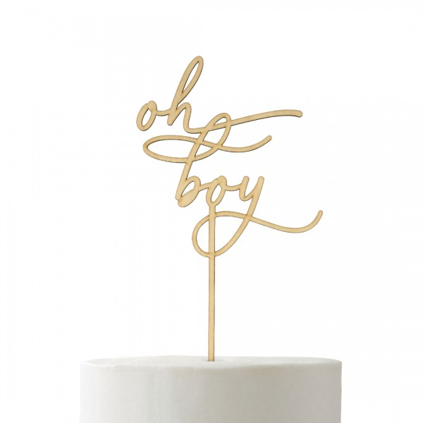 Cake Topper - Babyparty - oh boy