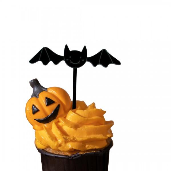 Cake Topper Fledermaus auf Muffin