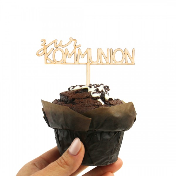 """Cake Topper """"Kommunion klassisch"""" auf einem Muffin"""