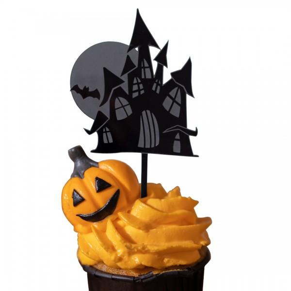 Cake Topper Acryl   Halloween   Spukschloss
