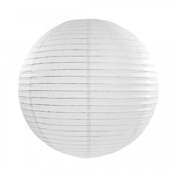 Papier-Lampion mit 20 cm Durchmesser in Weiß