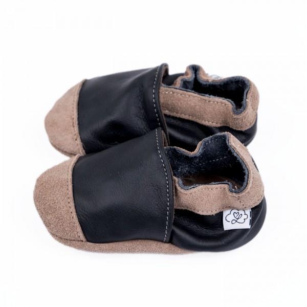 Babyschuhe Leder - schwarz