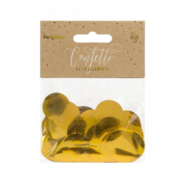 Konfetti – Party Deko - Gold, Konfetti in der Verpackung