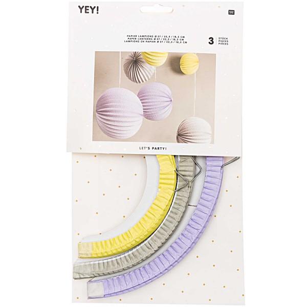 Papier Lampions - pastell
