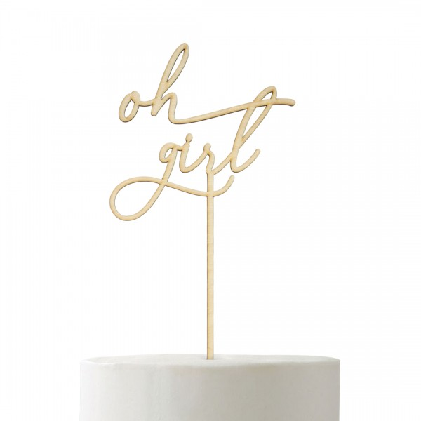 Cake Topper - Babyparty - oh girl