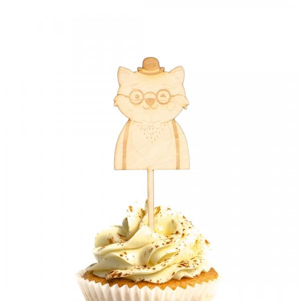 Cake Topper - Hipster Tier - Fuchs