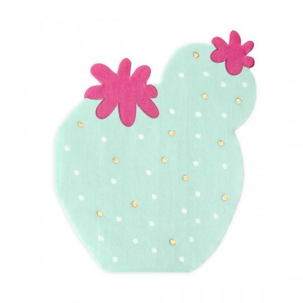 Servietten Kaktus in Grün und Pink einzeln