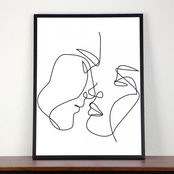 Line Art – Kunstdruck – Du und Ich