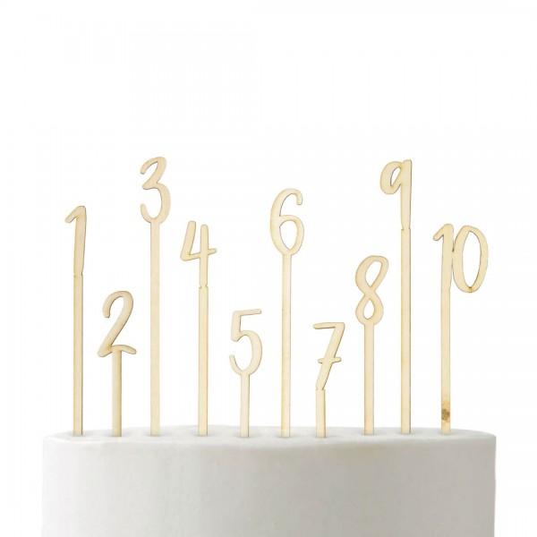 Cake Topper - Zahlen Set 1-10 - numerisch