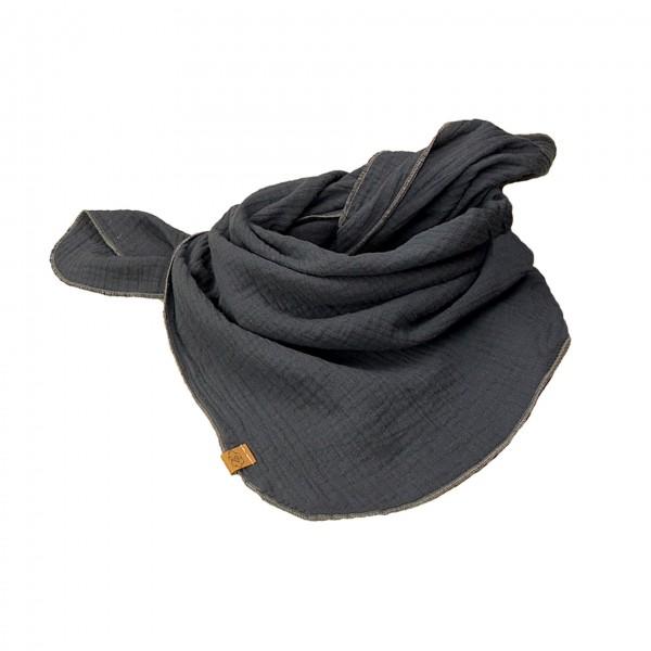 Musselintuch - dunkelgrau