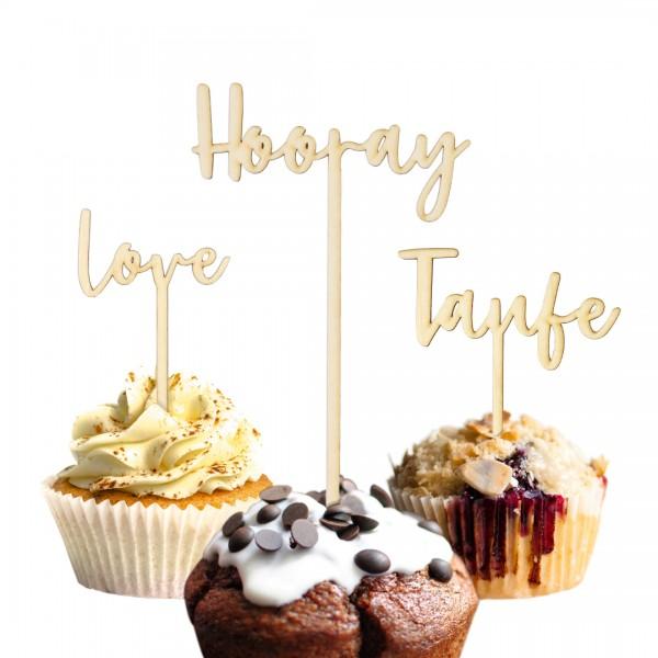 Cake Topper | Wunschtext | verspielt