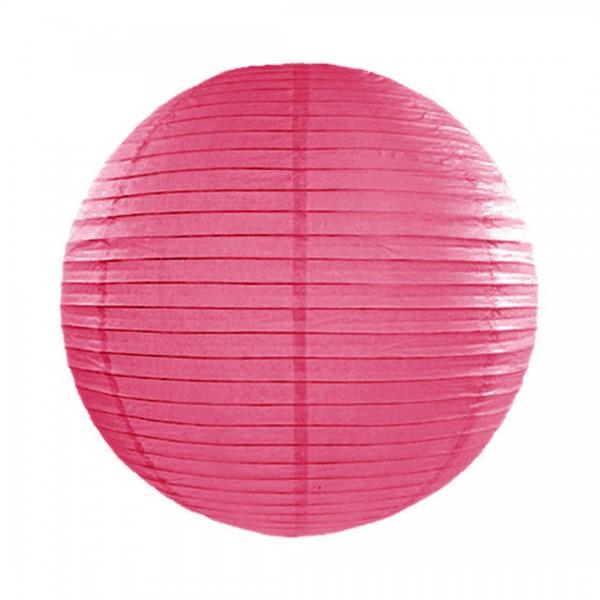 Papier-Lampion mit 25 cm Durchmesser in Pink