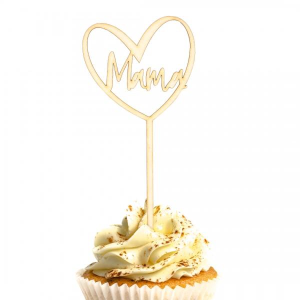 Cake Topper - Muttertag - Herz