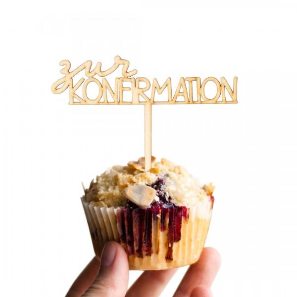 """Cake Topper """"Konfirmation"""" auf einem Muffin"""