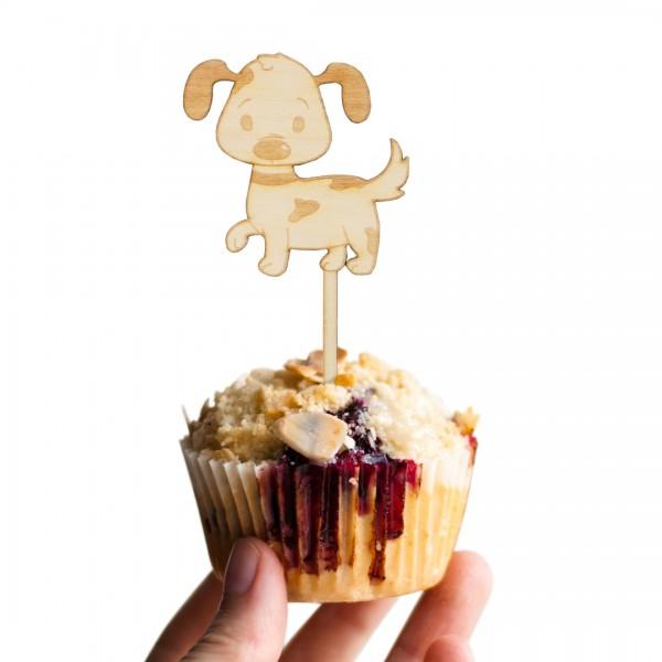 Cake Topper Hund auf Muffin