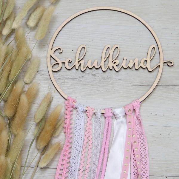 DIY-Set Holzkranz - Schulkind - Wunschfarbe