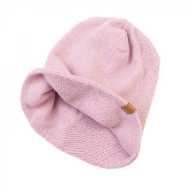 Strick Beanie - rosa