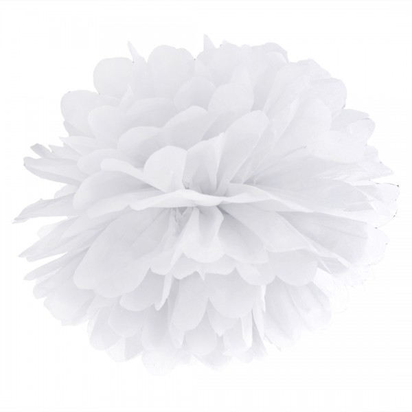Pompon in Weiß