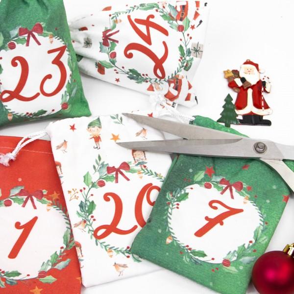 "Adventskalender Säckchen ""Classic Christmas"" 1-24"