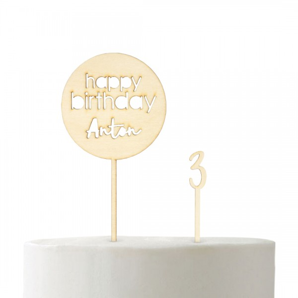 Cake Topper - Set - Geburtstag - Basic 5