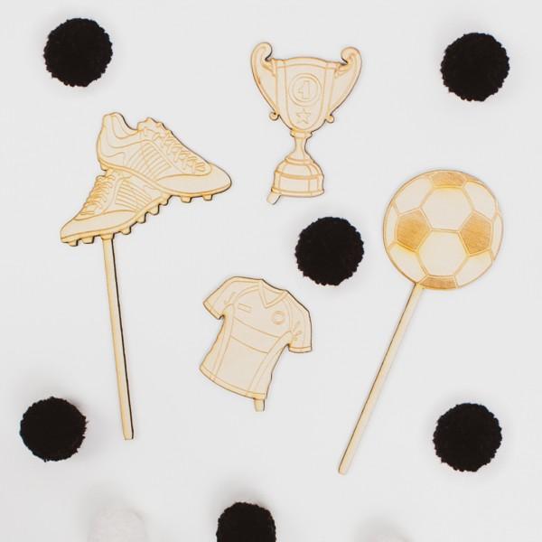 Cake Topper - Fußball - Wunschmotiv