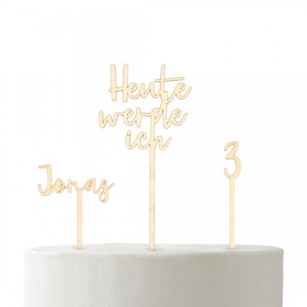 """Cake Topper - Set  """"Heute werde ich"""""""