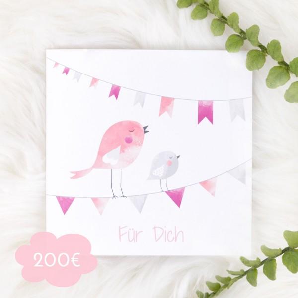 Geschenkgutschein Mädchen - 200 €