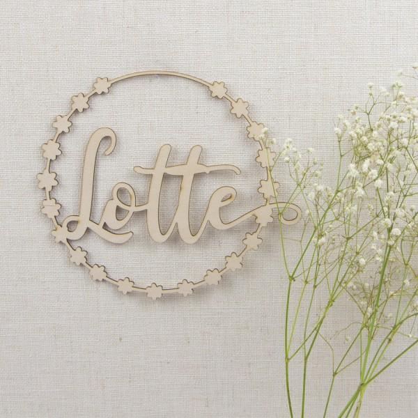 Blumenkranz mit Wunschtext