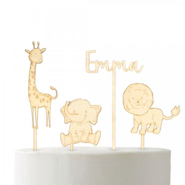 "Cake Topper - Set ""Safari"""