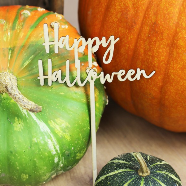 Cake Topper | Happy Halloween angelehnt an Kürbisse
