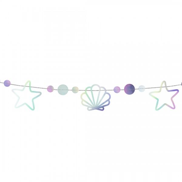 Girlande | Party Deko | Meerjungfrau Holographic, Detailaufnahme